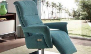 Fauteuil relax en cuir ou tissu base aluminium pour un meilleur design