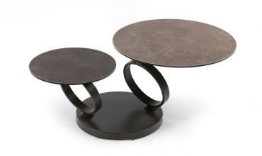 Table basse ronde en céramique - Modèle BASILOS
