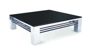 Grande table basse en verre noir - Modèle ACHILLE