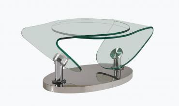 Table basse verre design original - Modèle SYNCHRO
