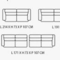 Canapé d'angle avec assise de relaxation en cuir et tissus - Modèle 218E