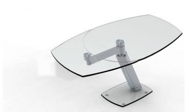Table repas en verre trempé ZARAI avec allonge EDA CONCEPT