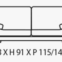 Canapé Design bi-matières cuir & tissu dossiers