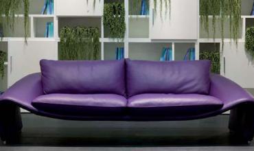 Canapé en cuir design haut de gamme - modèle 1746