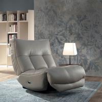 Canapé d'angle chauffeuse design italien - modèle 1744
