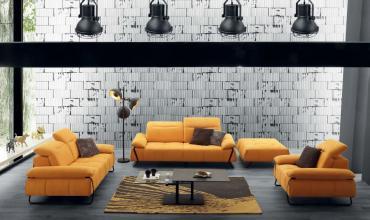 Canapé au design industriel - Modèle 2744