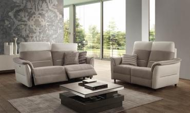 Canapé relax bi-matière - Modèle 234E