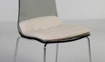 Chaise design plexiglass et microfibre