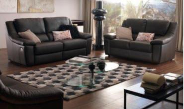 Canapé relaxation électrique moderne cuir ou tissu - Modèle RE77