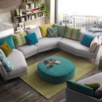 Canapé d'angle design pied alu grande dimension - Modèle 2698