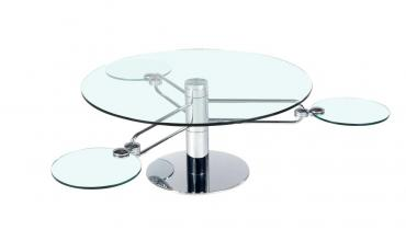 Table basse verre modulable MILKY EDA CONCEPT