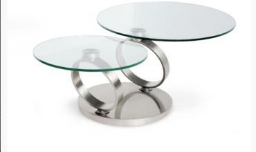 Table basse ronde articulée - Modèle BASILOS II