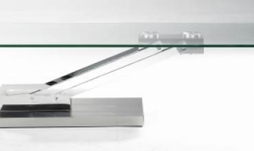 Table basse verre transformable en table repas - Modèle BRAVO