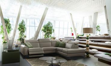 Canapé d'angle sobre et design - Modèle REB8
