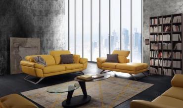 Salon au Design exceptionnel, avec pieds en métal chromé - 2684