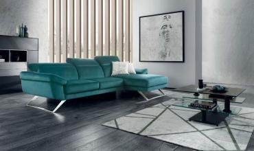 Canapé design pieds en métal chromé - 2682