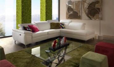 Salon d'angle relax électrique avec têtières réglables - Modèle 133E