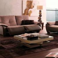 Canapé relax cuir & tissu Contemporain - Modèle 604 E