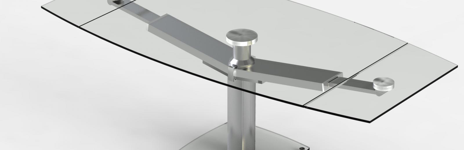 Table repas design en verre trempé avec rallonges CLUB EDA CONCEPT