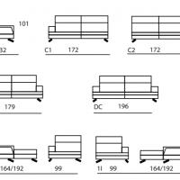 Dimensions du canapé bi-matières 2725