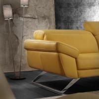 Canapé design pieds en métal chromé - 2684