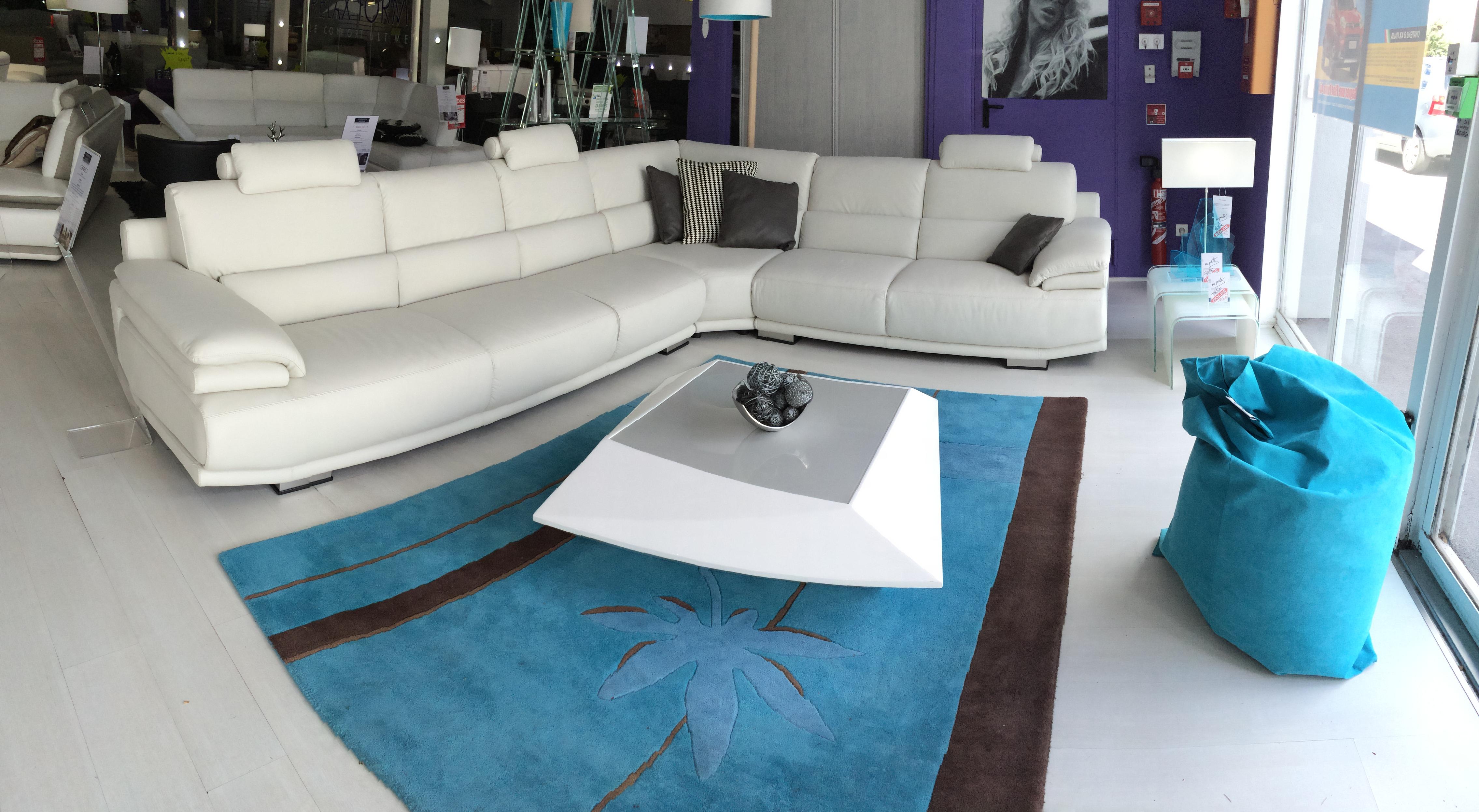 Canap d 39 angle panoramique cuir o tissu c 39 est vous de choisir - Canape cuir ou tissu ...