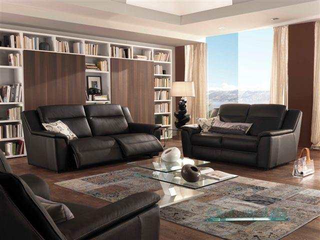 Canap cuir relax lectrique pictures to pin on pinterest - Canape electrique cuir center ...