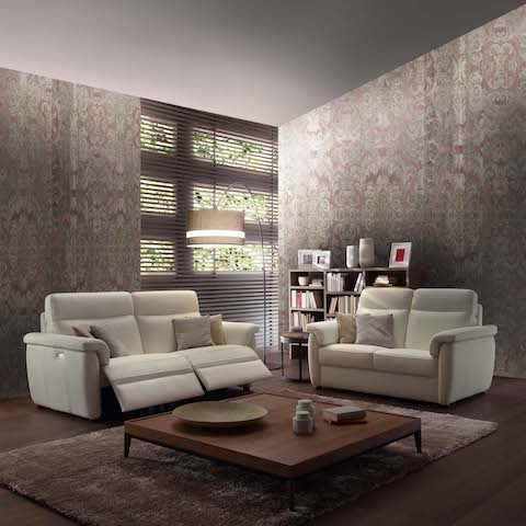 canap relax rev tement cuir tissu contemporain mod le 699 e. Black Bedroom Furniture Sets. Home Design Ideas