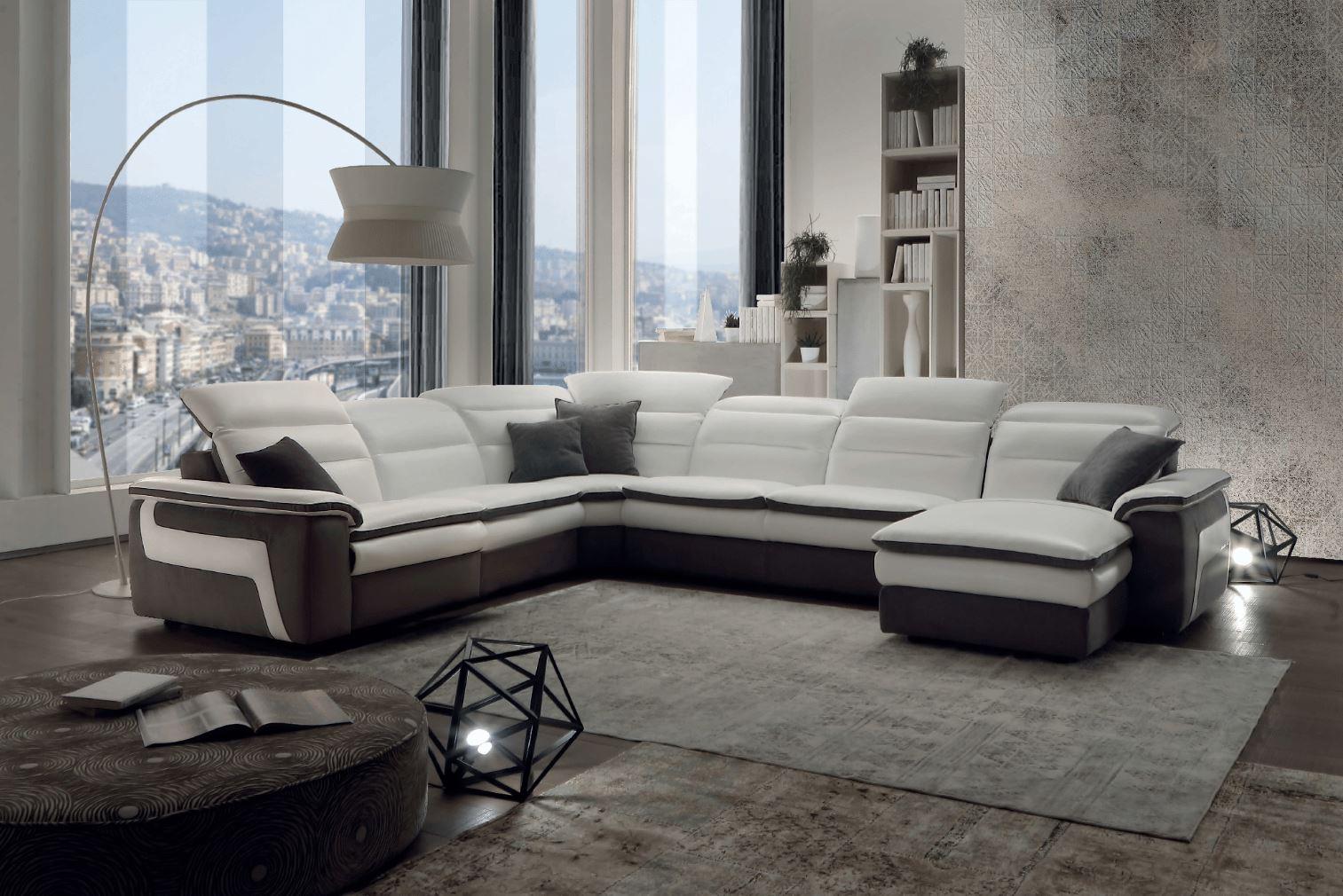 Salon d'angle panoramique relax en cuir - Modèle 318E Marseille (13)