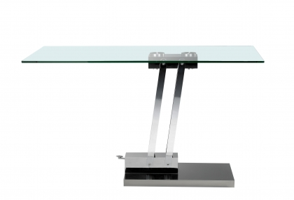 Table transformable verre - Table ronde transformable ...