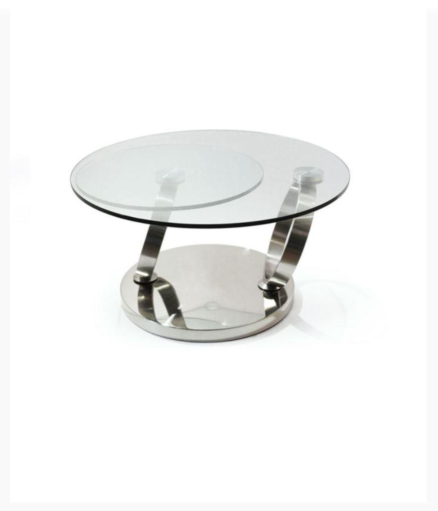 Table basse ronde articulée - Modèle BASILOS II - Chateau ...
