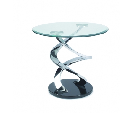Table verre et metal maison design - Table bout de canape en verre design ...
