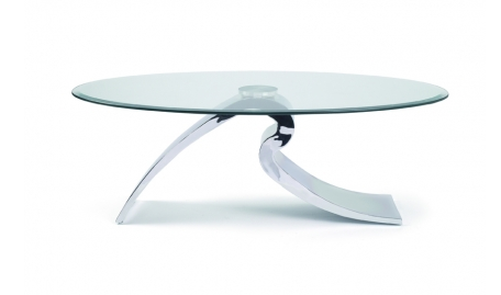 Table basse design verre tremp et metal chateau d 39 ax - Table basse design en verre trempe ...