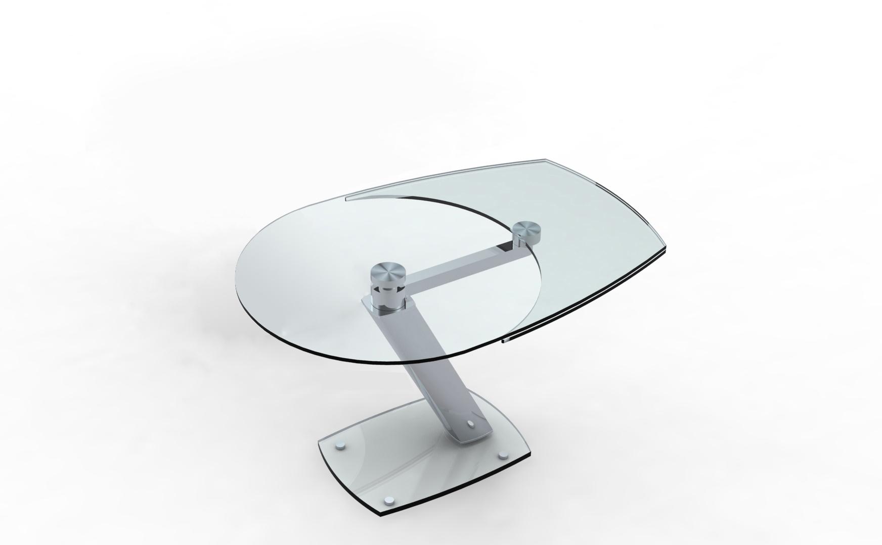 Table repas en verre tremp zarai avec allonge eda concept for Chateau d ax table de salle a manger