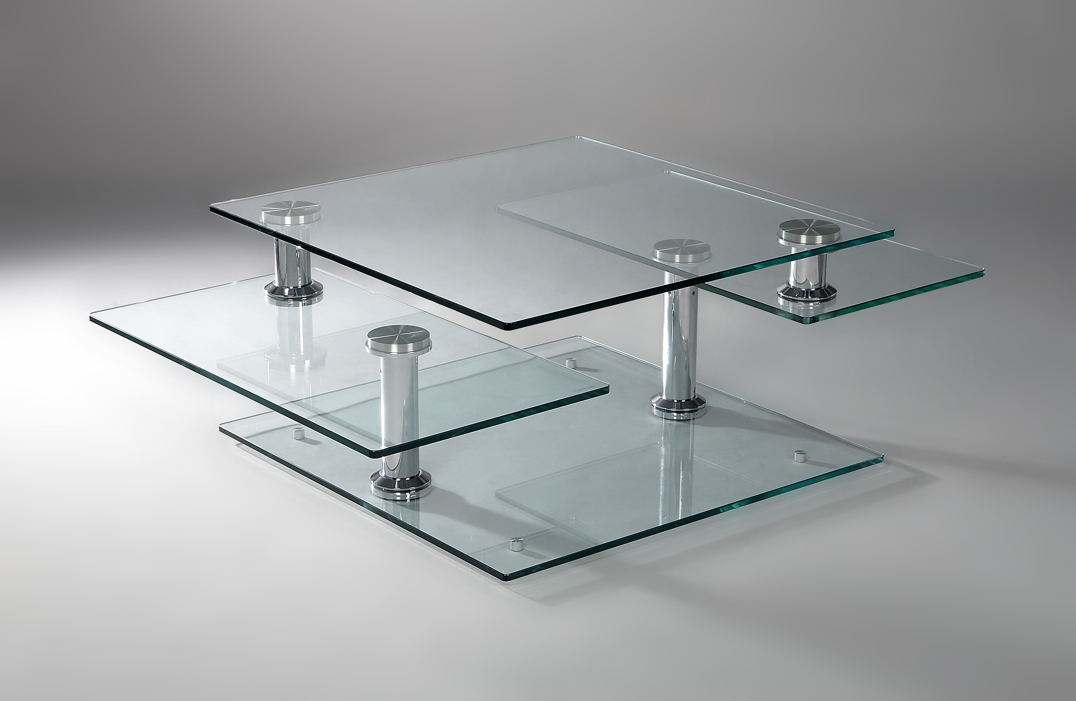Table basse verre modulable design chateau d 39 ax - Table basse design en verre trempe ...