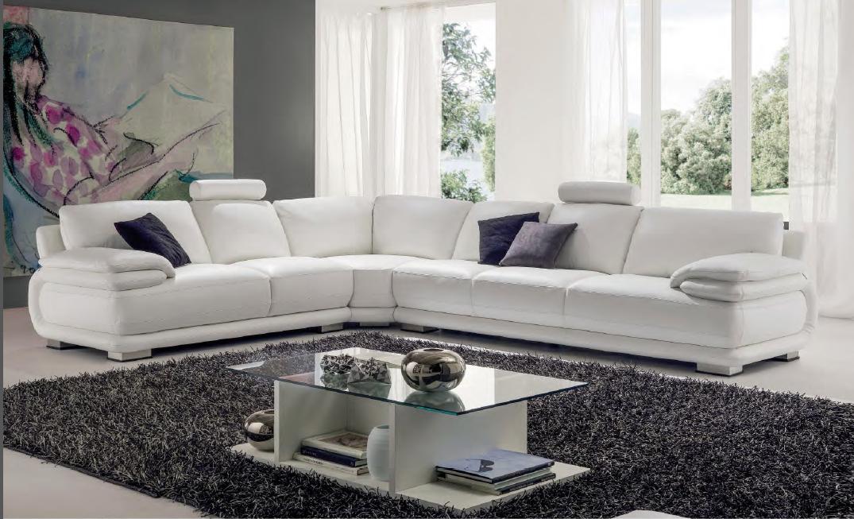 Canapé d'angle en cuir