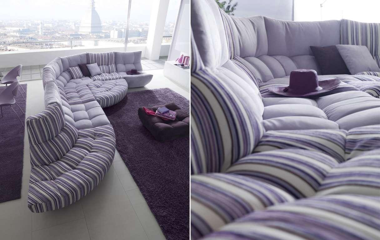 Canapé d'angle modulable en tissu à motif
